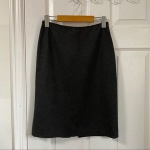 Lafayette 148 New York Petite Grey Pencil Skirt
